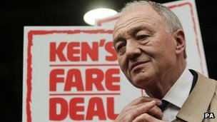 Ken Livingstone launching his campaign