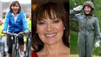 Lorraine Kelly in August 2010 (left), September 2011 (middle) and June 2011 (right)