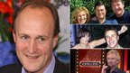Peter Bazalgette (left) pictured alongside Ground Force hosts Charlie Dimmock, Alan Titchmarsh and Tommy Walsh (top right), Big Brother presenter Davina McCall and its first UK winner Craig Phillips (middle right) and Deal or No Deal host Noel Edmonds (bottom right)