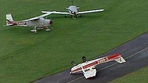 Aircraft at Redhill Aerodrome, Kent