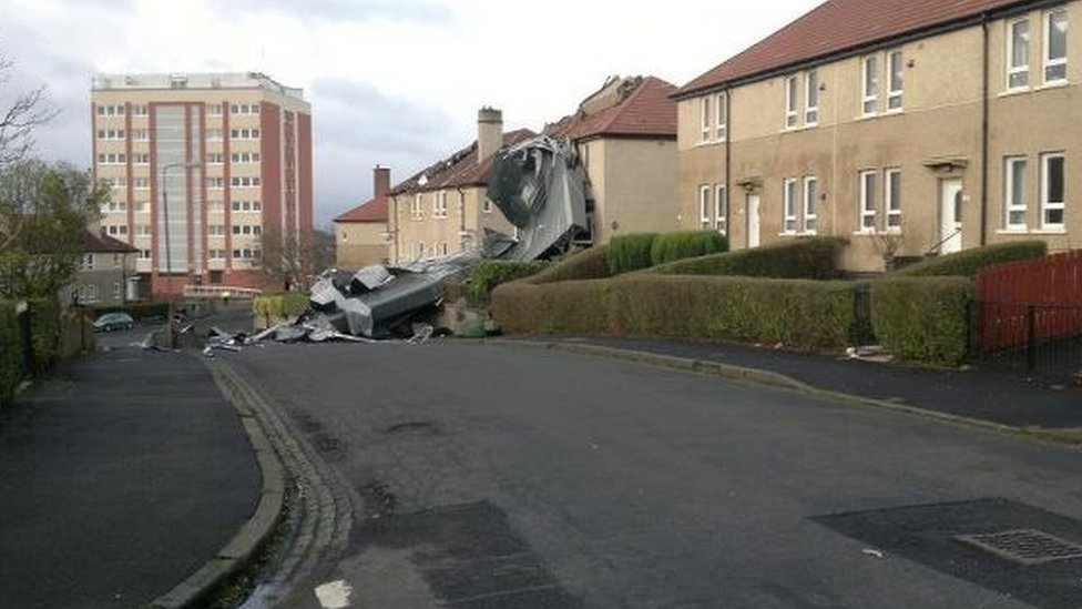 Bbc News In Pictures Scotland Hit By Storm Force Winds
