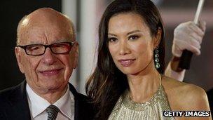 Rupert Murdoch and wife Wendi Deng