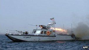 Iranian missile boat