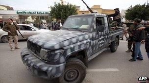 Fighters in Tripoli. 3 Jan 2011
