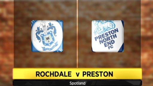 Rochdale 1-1 Preston
