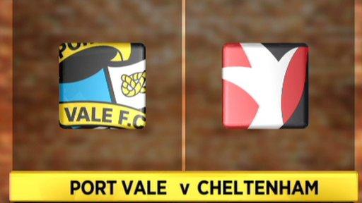 Port Vale 1-2 Cheltenham