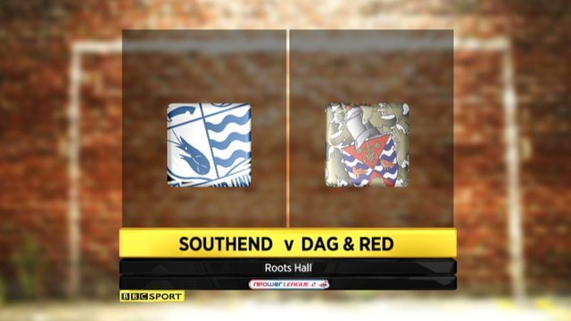 Southend 1-1 Dag & Red