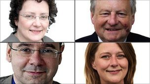 Elin Jones, Lord Elis Thomas, Simon Thomas and Leanne Wood are vying to become Plaid Cymru leader