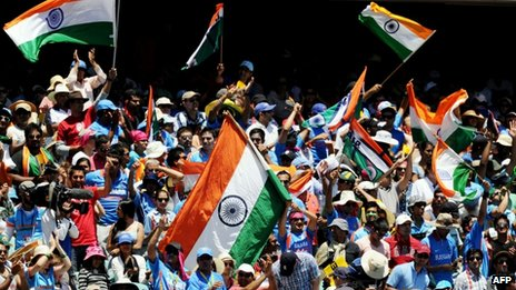 India fans in Sydney, 3 January