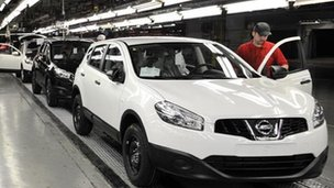 Nissan Qashqai on production line