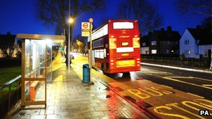 The Bus stop in Eltham where Stephen Lawrence was attacked in April 1993
