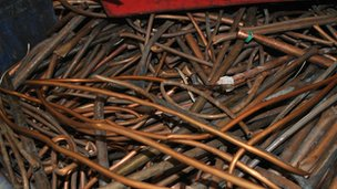 Scrap copper pipes