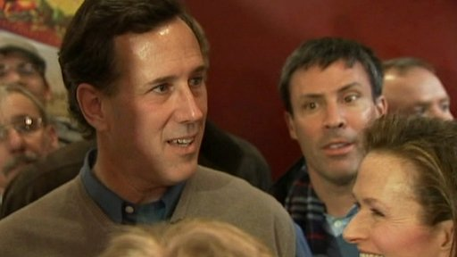 Rick Santorum in a crowd