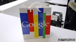 A Google shopping bag