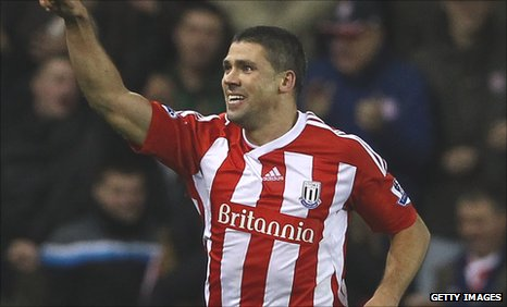 Stoke City striker Jonathan Walters
