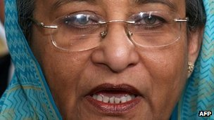 Bangladesh prime minister Sheikh Hasina - file photo April 2007
