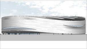Artist impression of new sports arena