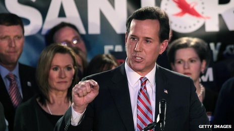 Rick Santorum in Johnston, Iowa