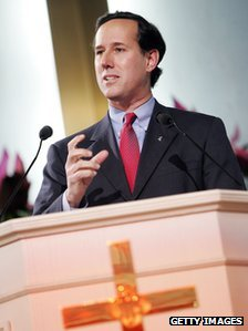 Rick Santorum at a Christian rally in 2006