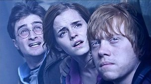 Daniel Radcliffe, Emma Watson and Rupert Grint in Harry Potter and the Deathly Hallows