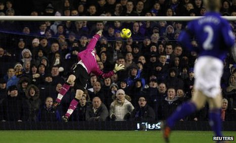 Adam Bogdan concedes from Tim Howard