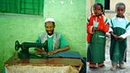Left: A tailor in Harar; right: Two school children in Harar (Photos by BBC News website reader Myke Gerrish )