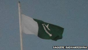Pakistani flag raised in Sindgi, near Bijapur, Karnataka, 1 January. Pic by Saggere Radhakrishna