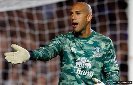 Goalie TIM HOWARD scores 100-yard goal