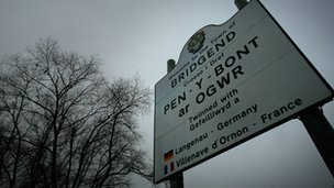 Bridgend sign