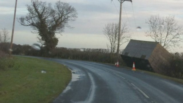 Stable blown over in Willoughby