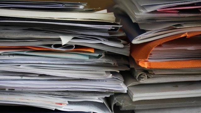 un-filed paperwork