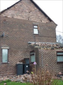 Damaged property in Newcastle-under-Lyme, Staffordshire 