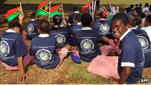 Vanuatu school girls