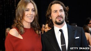 Kathryn Bigelow and Mark Boal arrive at the Academy Awards 27 February 2011