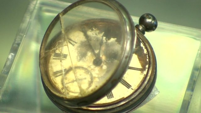 Pocket watch recovered from Titanic