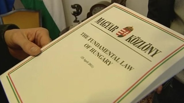 Hard copy of the new Hungarian constitution