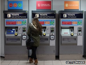 Ticket machines at Clapham Junction