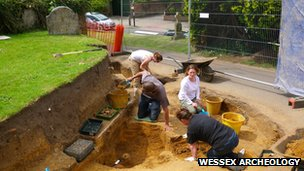 Dig at Lyndhurst Parish Church