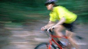 cyclist on bike