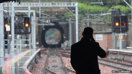 Man on platform