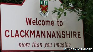 Clackmannanshire sign