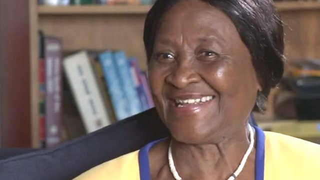 Albertina Luthuli talks to the BBC's Karen Allen