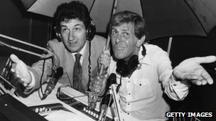 Douglas Cameron and Bob Holness in 1981