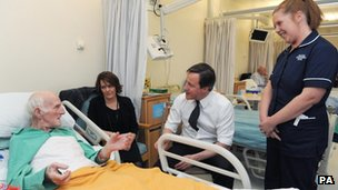 Mr Cameron visiting Blackpool Victoria Hospital
