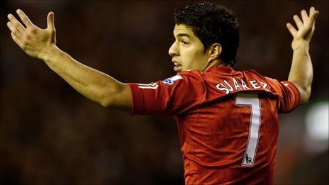 Luis Suarez's first away game back could be at Old Trafford on 11 February