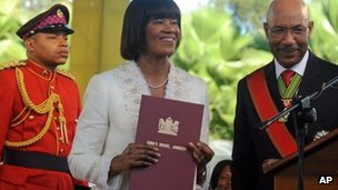 Jamaica PM ceremony