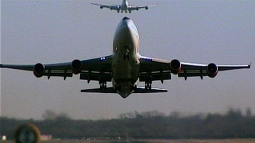 Plane coming in to land