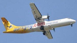 Aurigny ATR plane