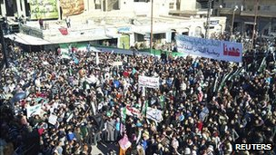 Protest in Palmyra, Syria. 6 Jan 2012
