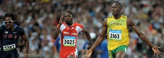 Usain Bolt image linking to Beijing 2008 coverage